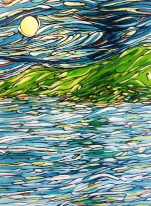 Moon, Sea, Island, Approx. 42x46