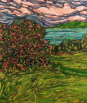 Tangled Bougainvillea, Guana, 48x57, SOLD