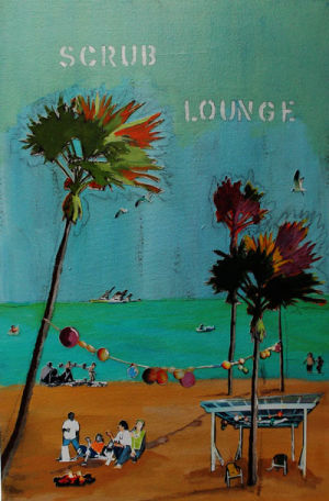 Scrub Lounge 16 in.x24 in.SOLD